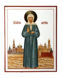 LOMONOSOV IMPERIAL PORCELAIN FLAT ICON SAINT MATRONA OF MOSCOW