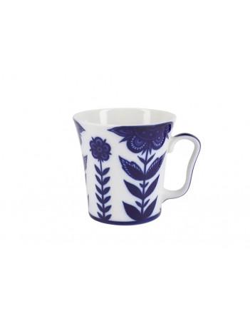 LOMONOSOV IMPERIAL PORCELAIN COFFEE HOT CHOCOLATE MUG AURORA FLEUR 360 Ml 12.2 Fl.Oz