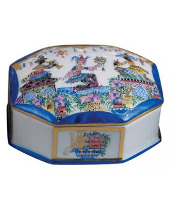 LOMONOSOV IMPERIAL PORCELAIN TREASURE JEWELERY BOX ORIENTAL DANCE