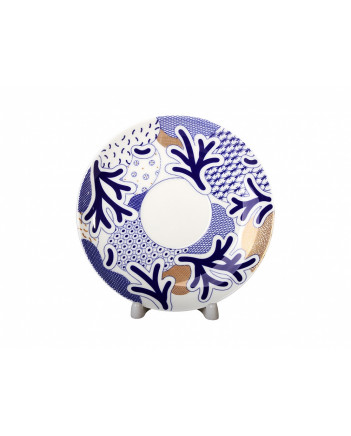 LOMONOSOV IMPERIAL BONE CHINA PORCELAIN TEA CUP DOME COBALT BLUE 300 ml/10.1 fl.oz