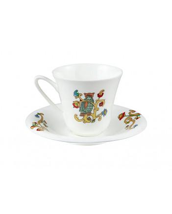 LOMONOSOV IMPERIAL BONE CHINA PORCELAIN ESPRESSO CUP FAIRYTALES GOATLING 200 ml/6.8 fl.oz