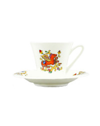 LOMONOSOV IMPERIAL BONE CHINA PORCELAIN ESPRESSO CUP FAIRYTALES DRAGON 200 ml/6.8 fl.oz