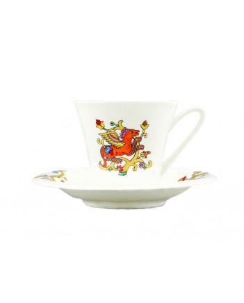 LOMONOSOV IMPERIAL BONE CHINA PORCELAIN TEA SET SERVICE FAIRYTALES 15 ITEMS