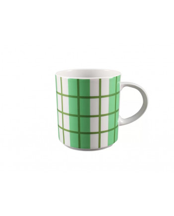 LOMONOSOV IMPERIAL PORCELAIN COFFEE LATTE HOT CHOCOLATE MUG GREEN CELL 370 ml 12.5 oz