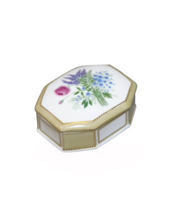 LOMONOSOV IMPERIAL PORCELAIN TREASURE JEWELERY BOX LUPINS