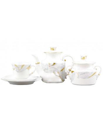 LOMONOSOV IMPERIAL PORCELAIN TEA SET SERVICE SELENA 20 items