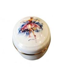 LOMONOSOV IMPERIAL PORCELAIN TREASURE JEWELERY BOX OVAL COLOREFUL DREAMS: PRINCESS AURORA