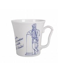 LOMONOSOV IMPERIAL PORCELAIN COFFEE LATTE HOT CHOCOLATE MUG HUSSAR GLORY 360 ml/12.2 fl.oz