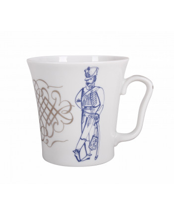 LOMONOSOV IMPERIAL PORCELAIN COFFEE LATTE HOT CHOCOLATE MUG HUSSAR OATH 360 ml/12.2 fl.oz