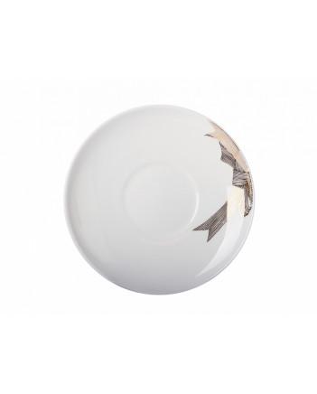 LOMONOSOV IMPERIAL BONE CHINA PORCELAIN TEA CUP APPLE PLATINUM BOW 160 ml/5.4 fl.oz