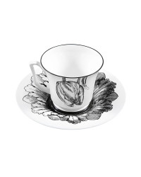 LOMONOSOV IMPERIAL BONE CHINA PORCELAIN TEA CUP YULIA MAGIC GARDEN I 210 ml 7.1 fl.oz