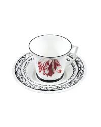 LOMONOSOV IMPERIAL BONE CHINA PORCELAIN TEA CUP YULIA MAGIC GARDEN III 210 ml 7.1 fl.oz