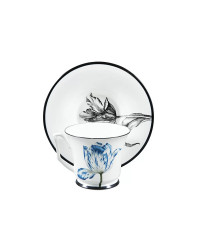 LOMONOSOV IMPERIAL BONE CHINA PORCELAIN TEA CUP YULIA MAGIC GARDEN V 210 ml 7.1 fl.oz