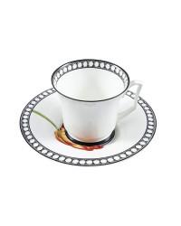 LOMONOSOV IMPERIAL BONE CHINA PORCELAIN TEA CUP YULIA MAGIC GARDEN VI 210 ml 7.1 fl.oz