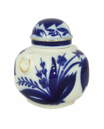 LOMONOSOV IMPERIAL PORCELAIN TEA CADDY BLUE BELL