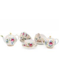 LOMONOSOV IMPERIAL PORCELAIN TEA SET SERVICE TULIP GOLDEN GRASSES 14 items