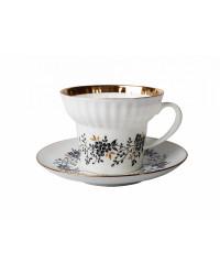 LOMONOSOV IMPERIAL BONE CHINA PORCELAIN ESPRESSO CUP WAVE TINY BRANCHES 155 ml/5.2 fl.oz