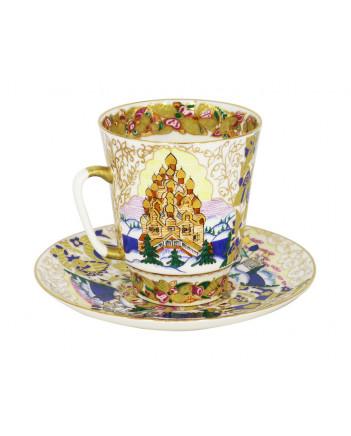 LOMONOSOV IMPERIAL BONE CHINA RARE PORCELAIN ESPRESSO CUP MAY OLD RUSSIA 165 ml/5.6 fl.oz