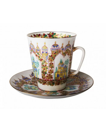 LOMONOSOV IMPERIAL BONE CHINA RARE PORCELAIN ESPRESSO CUP MAY SCHEHERAZADE PALACES 165 ml/5.6 fl.oz