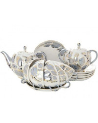 LOMONOSOV IMPERIAL PORCELAIN TEA SET SERVICE TULIP MOONLIGHT 20 items