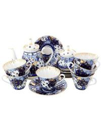 LOMONOSOV IMPERIAL PORCELAIN TEA SET SERVICE CHURCH BELLS 14 items