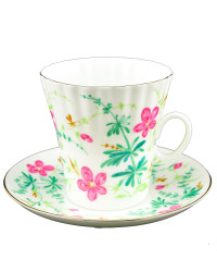 LOMONOSOV IMPERIAL BONE CHINA PORCELAIN ESPRESSO CUP DANDELION FLOWERS 175 ml/5.9 fl.oz
