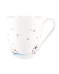LOMONOSOV IMPERIAL BONE CHINA PORCELAIN COFFEE MUG LITTLE PRINCE AND ROSE 450 ml 15.2 oz