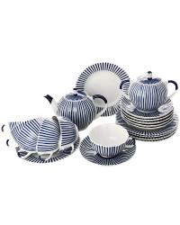 LOMONOSOV IMPERIAL PORCELAIN TEA SET SERVICE TULIP FRENCHMAN 20 items