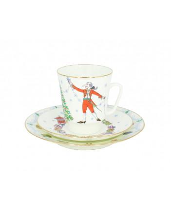 LOMONOSOV IMPERIAL BONE CHINA PORCELAIN ESPRESSO CUP SET MAY BALLET NUTCRACKER 165 ml/5.6 fl.oz