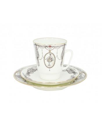 LOMONOSOV IMPERIAL BONE CHINA PORCELAIN ESPRESSO CUP SET MAY BALLET SWAN LAKE 165 ml/5.6 fl.oz