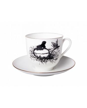 LOMONOSOV IMPERIAL BONE CHINA PORCELAIN ESPRESSO CUP DRAGONFLY 180 ml 6.1 fl.oz