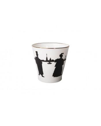LOMONOSOV IMPERIAL BONE CHINA PORCELAIN ESPRESSO CUP BLACK COFFEE WALK 80 ml/2.7 fl.oz