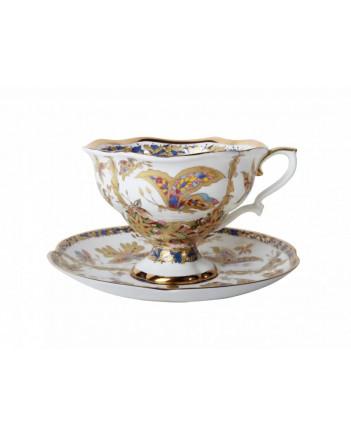 LOMONOSOV IMPERIAL BONE CHINA PORCELAIN TEA CUP NATASHA FANTASTIC BUTTERFLIES 220 ml/7.4 fl.oz