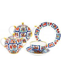LOMONOSOV IMPERIAL PORCELAIN TEA SET SERVICE TULIP RUSSIAN LUBOK 20 items