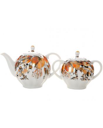 LOMONOSOV IMPERIAL PORCELAIN TEA SET SERVICE TULIP MY GARDEN  20 items