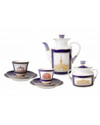 LOMONOSOV IMPERIAL PORCELAIN COFFEE SET SERVICE CLASSIC OF PETERSBURB 20 items