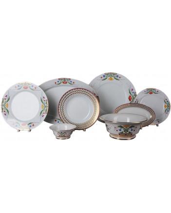 LOMONOSOV IMPERIAL PORCELAIN DINNER SET MOSCOW RIVER 24 items