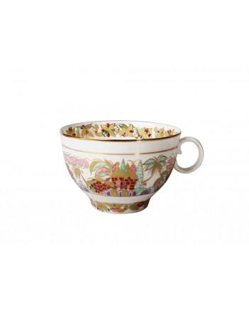 LOMONOSOV IMPERIAL BONE CHINA PORCELAIN TEA SET SERVICE LANDSCAPE FRIEZE APPLE 15 items