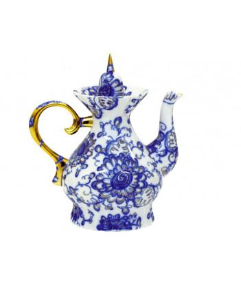 LOMONOSOV IMPERIAL PORCELAIN TEAPOT SINGING GARDEN 5.5 CUPS 1100 ML 37.2 oz