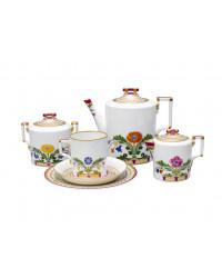 LOMONOSOV IMPERIAL PORCELAIN TEA SET SERVICE MOSCOW RIVER 20 items