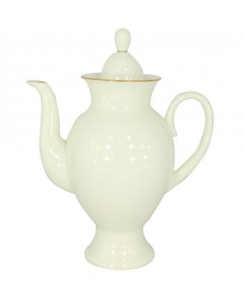 LOMONOSOV IMPERIAL BONE CHINA PORCELAIN COFFEE POT GOLDEN EDGE 630 ml 21.3 oz