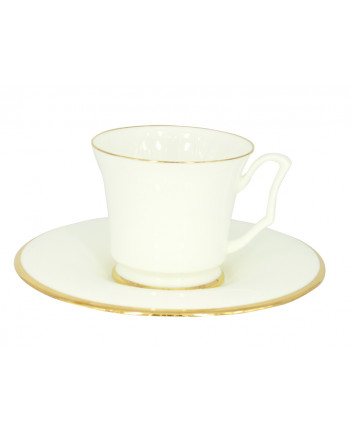 LOMONOSOV IMPERIAL BONE CHINA PORCELAIN TEA CUP YULIA GOLDEN EDGE 210 ml 7.1 fl.oz