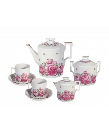 LOMONOSOV IMPERIAL PORCELAIN TEA SET SERVICE FIRST DATE 14 items