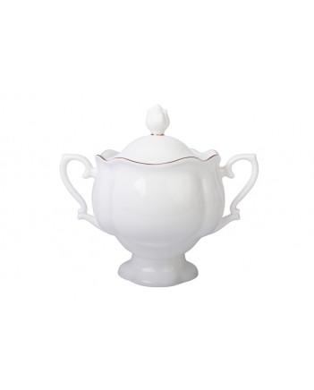 LOMONOSOV IMPERIAL BONE CHINA PORCELAIN TEA SET SERVICE NATASHA GOLDEN EDGE 20 items