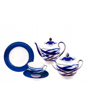 LOMONOSOV IMPERIAL PORCELAIN TEA SET SERVICE SPRING COCOON 20 items