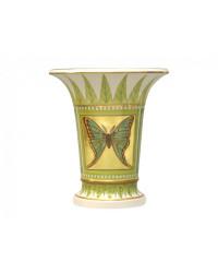 """LOMONOSOV IMPERIAL PORCELAIN FLOWER VASE GREEN BUTTERFLY EMPIRE 20 CM/8"""""""