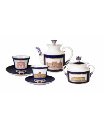 LOMONOSOV IMPERIAL PORCELAIN TEA SET SERVICE CLASSIC OF PETERSBURG 20 items