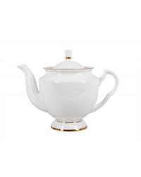LOMONOSOV IMPERIAL BONE CHINA PORCELAIN TEA SET SERVICE GOLDEN EDGE 14 items