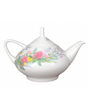 LOMONOSOV IMPERIAL BONE CHINA PORCELAIN TEA SET SERVICE WILDFLOWERS DOME 14 items