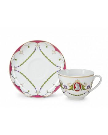 LOMONOSOV IMPERIAL PORCELAIN TEA SET SERVICE SPRING CAMEO 14 items
